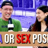 Strangers guess YOGA pose or SEX position | STREET TALK 2.0